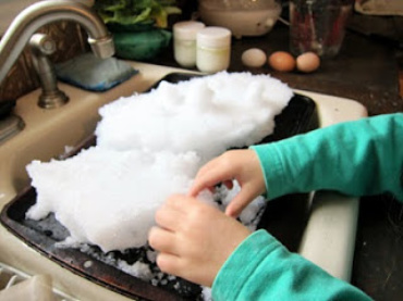Circle Day and How to Build an Indoor Snow Village