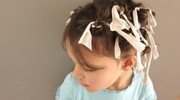 How to make curls with rags: like the Ingalls