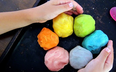 Hands on Color Wheel and Stuffed Zucchini