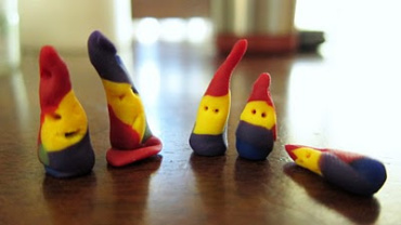 Nomes Gnomes. Handmade Bead People